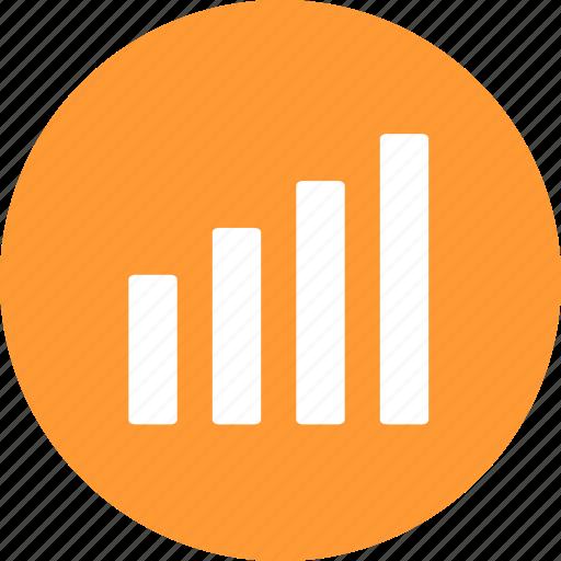 analytics, chart, finance, graph, growth, sales, yellow icon