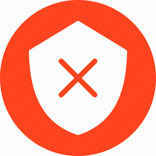 firewall, hack proof, protection, red, safe, secure icon