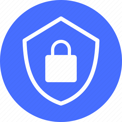 Blue, encryption, firewall, lock, safe, secure, security icon - Download on Iconfinder