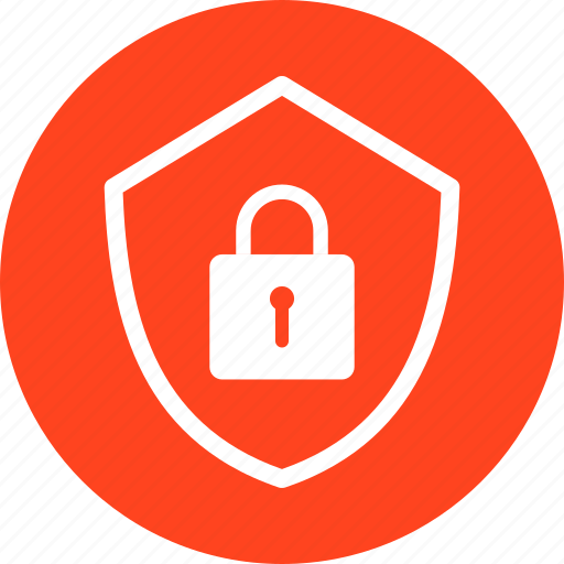 Encryption, firewall, lock, red, safe, secure, security icon - Download on Iconfinder