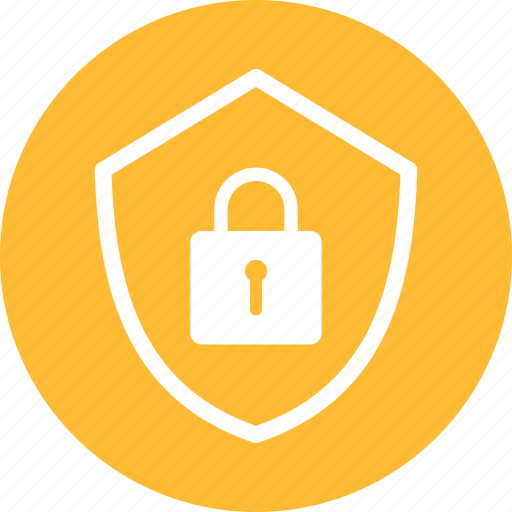 encryption, firewall, lock, safe, secure, security, yellow icon