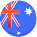 australia, county, flag, national icon
