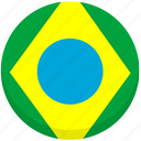 brazil, county, flag, national icon