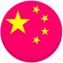china, county, flag, national icon