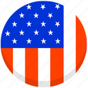 american, county, flag, national, united state, united states, usa icon