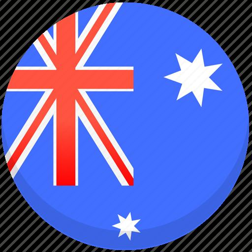 australia, county, flag, national icon