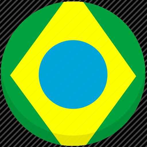 brazil, county, flag, national icon