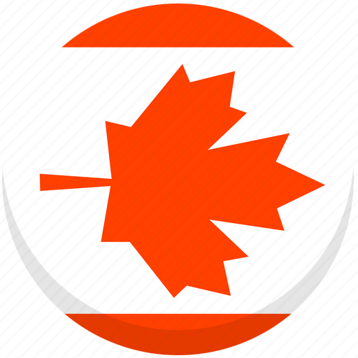 canada, county, flag, national icon