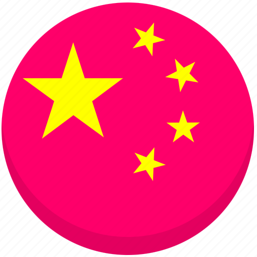 china, county, flag, national icon