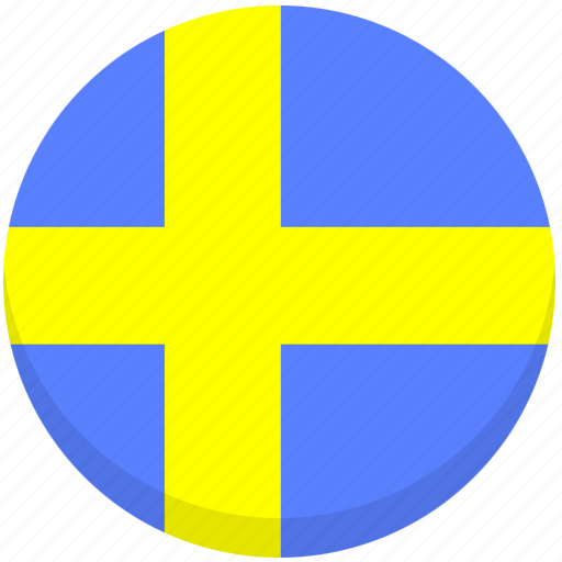 county, flag, national, sweden icon