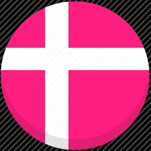 county, denmark, flag, national icon