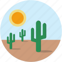 cactus, circle, desert, hot, landscape, scenery icon
