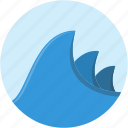 circle, landscape, ocean, scenery, water, wave icon