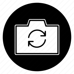 camera, photo, photography, picture, reload, round, swap icon
