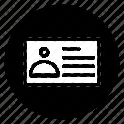 card, round icon