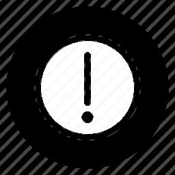 caution, round icon