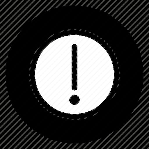 caution, circle, danger, round, warning icon