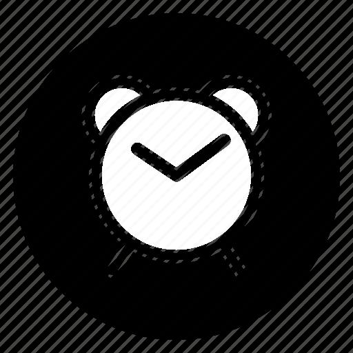 alarm, clock, round, time, watch icon