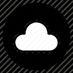 cloud, computing, network, round, storage, weather icon