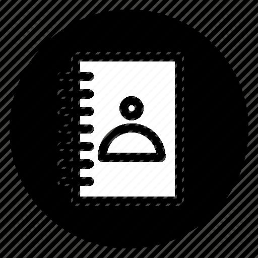 contact, round icon