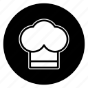 chef, cook, round icon