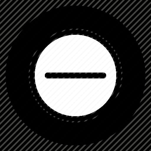 delete, minus, remove, round icon