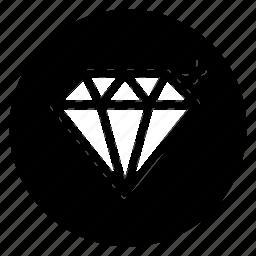 diamond, gem, jewelry, round, treasure icon
