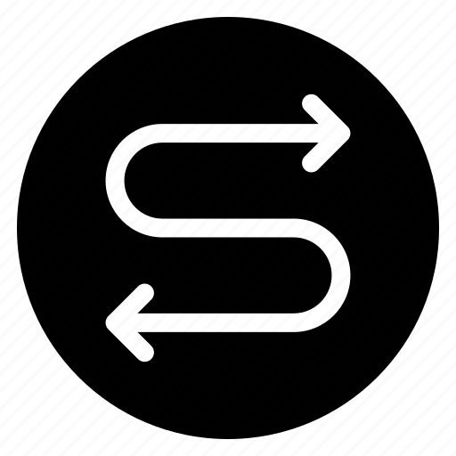 direction, round icon