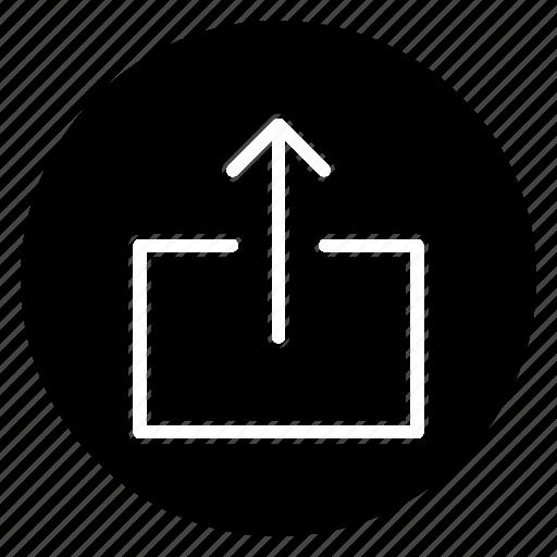 export, round, upload icon