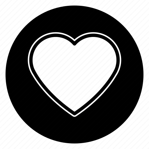 favorite, heart, round, social icon
