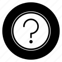 about, faq, help, question, round, support icon