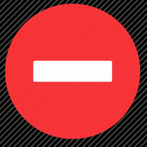 cancel, close, delete, exit, minus, remove, round icon