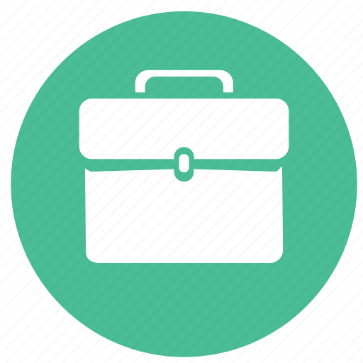 bag, briefcase, business, finance, round icon