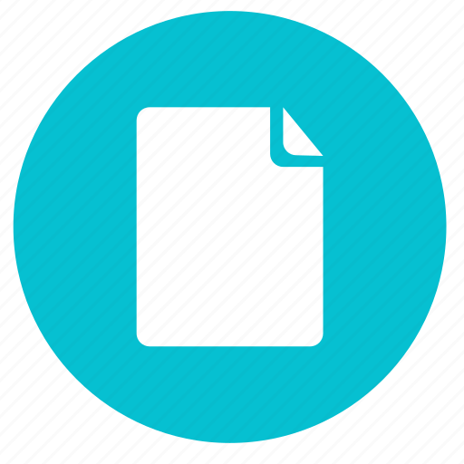 document, file, page, paper, round, sheet icon