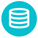 data, database, round, server, storage icon