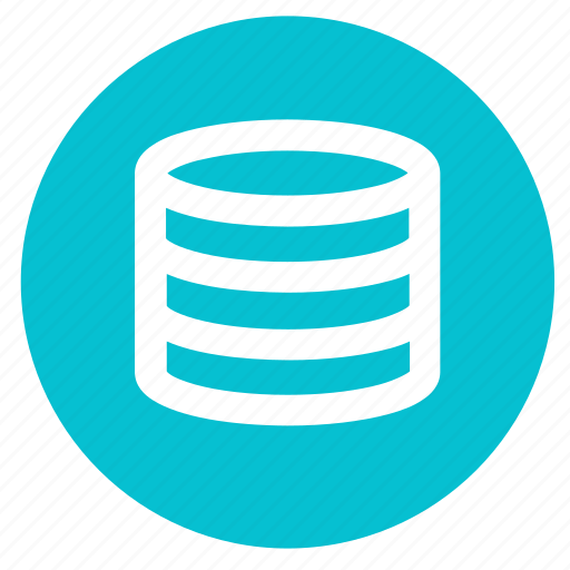 data, database, round, server, storage icon