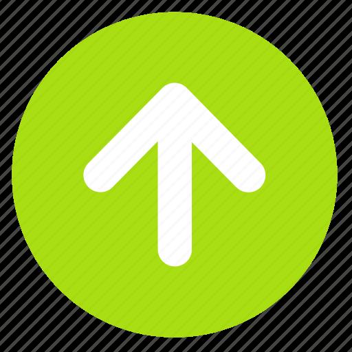 arrow, direction, round, up, upload icon
