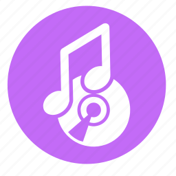 audio, cd, multimedia, music, note, round, sound icon