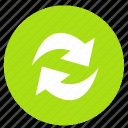 arrow, arrows, refresh, reload, round icon