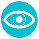 eye, find, round, search, see, view, zoom icon
