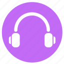 audio, headphone, headphones, multimedia, music, round, song icon