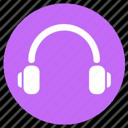 audio, headphone, headphones, multimedia, music, round, song icon