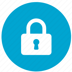 lock, password, private, round, safe, secure, security icon