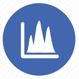 bar, chart, diagram, finance, graph, round, statistics icon
