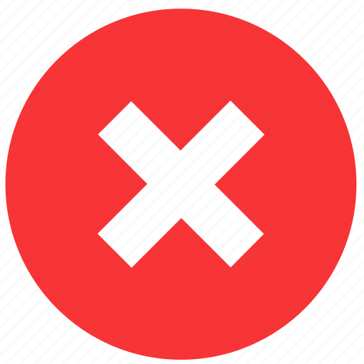 cancel, close, cross, delete, exit, remove, round icon
