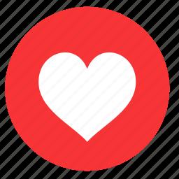 favourite, heart, like, love, round, valentine, valentines icon