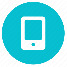 device, mobile, phone, round, smart phone, smartphone, tab icon