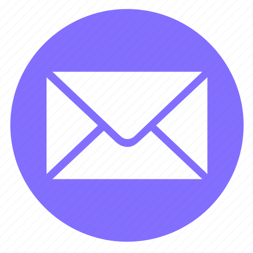 email, envelope, letter, mail, message, round, send icon