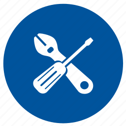 configuration, options, round, screw, settings, tools, wrench icon