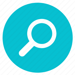 find, glass, magnifier, magnifying, round, search, zoom icon